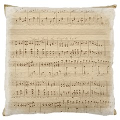 Vintage Beige Music Notes Standard Flano Cushion Case (one Side) by Celenk