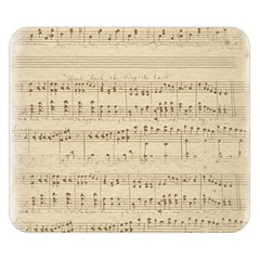 Vintage Beige Music Notes Double Sided Flano Blanket (small)