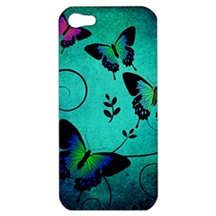 Texture Butterflies Background Apple Iphone 5 Hardshell Case by Celenk