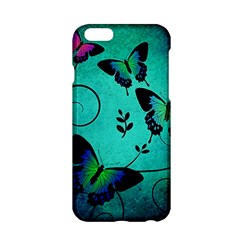 Texture Butterflies Background Apple Iphone 6/6s Hardshell Case by Celenk