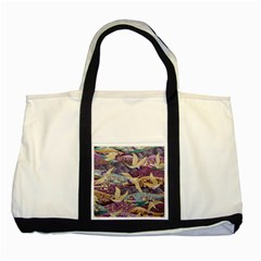 Textile Fabric Cloth Pattern Two Tone Tote Bag by Celenk