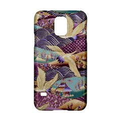 Textile Fabric Cloth Pattern Samsung Galaxy S5 Hardshell Case  by Celenk