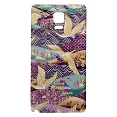 Textile Fabric Cloth Pattern Galaxy Note 4 Back Case by Celenk