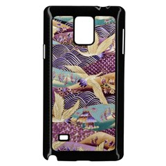Textile Fabric Cloth Pattern Samsung Galaxy Note 4 Case (black) by Celenk