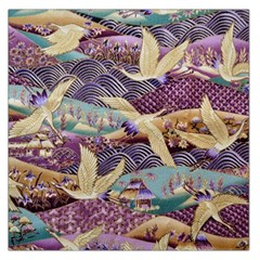 Textile Fabric Cloth Pattern Large Satin Scarf (square) by Celenk