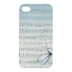Vintage Blue Music Notes Apple Iphone 4/4s Hardshell Case by Celenk