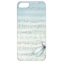 Vintage Blue Music Notes Apple Iphone 5 Classic Hardshell Case by Celenk