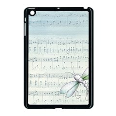 Vintage Blue Music Notes Apple Ipad Mini Case (black) by Celenk