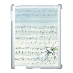Vintage Blue Music Notes Apple Ipad 3/4 Case (white) by Celenk