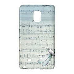 Vintage Blue Music Notes Galaxy Note Edge by Celenk