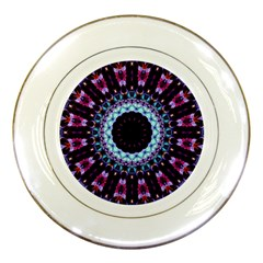 Kaleidoscope Shape Abstract Design Porcelain Plates by Celenk