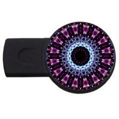 Kaleidoscope Shape Abstract Design Usb Flash Drive Round (4 Gb) by Celenk