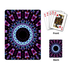 Kaleidoscope Shape Abstract Design Playing Card by Celenk