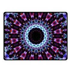 Kaleidoscope Shape Abstract Design Fleece Blanket (small) by Celenk
