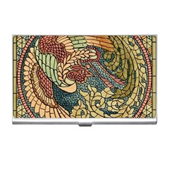 Wings Feathers Cubism Mosaic Business Card Holders by Celenk