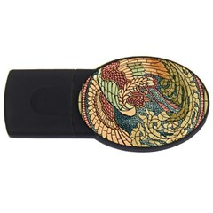 Wings Feathers Cubism Mosaic Usb Flash Drive Oval (2 Gb) by Celenk