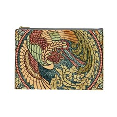 Wings Feathers Cubism Mosaic Cosmetic Bag (large)  by Celenk