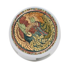 Wings Feathers Cubism Mosaic 4 Port Usb Hub (two Sides)  by Celenk