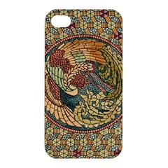 Wings Feathers Cubism Mosaic Apple Iphone 4/4s Premium Hardshell Case by Celenk