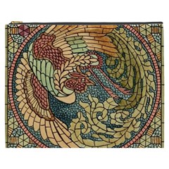 Wings Feathers Cubism Mosaic Cosmetic Bag (xxxl)  by Celenk