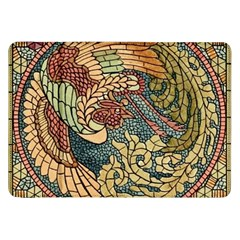 Wings Feathers Cubism Mosaic Samsung Galaxy Tab 8 9  P7300 Flip Case by Celenk