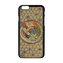 Wings Feathers Cubism Mosaic Apple Iphone 6/6s Black Enamel Case by Celenk
