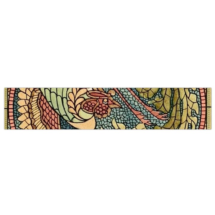 Wings Feathers Cubism Mosaic Small Flano Scarf