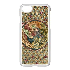 Wings Feathers Cubism Mosaic Apple Iphone 8 Seamless Case (white) by Celenk
