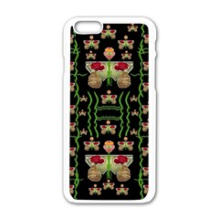 Roses In The Soft Hands Makes A Smile Pop Art Apple Iphone 6/6s White Enamel Case