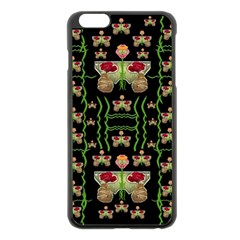 Roses In The Soft Hands Makes A Smile Pop Art Apple Iphone 6 Plus/6s Plus Black Enamel Case by pepitasart
