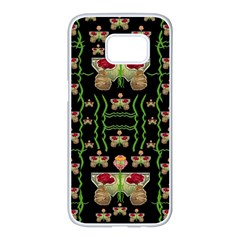 Roses In The Soft Hands Makes A Smile Pop Art Samsung Galaxy S7 Edge White Seamless Case by pepitasart