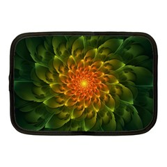 Beautiful Orange Green Desert Cactus Fractalspiral Netbook Case (medium)  by jayaprime