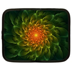 Beautiful Orange Green Desert Cactus Fractalspiral Netbook Case (xl)  by jayaprime