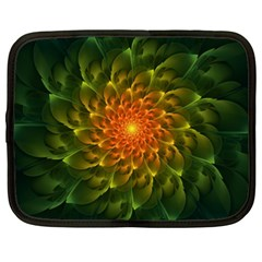 Beautiful Orange Green Desert Cactus Fractalspiral Netbook Case (xxl)  by jayaprime