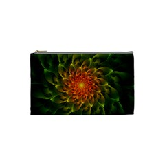 Beautiful Orange Green Desert Cactus Fractalspiral Cosmetic Bag (small)  by jayaprime