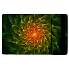Beautiful Orange Green Desert Cactus Fractalspiral Apple Ipad 3/4 Flip Case by jayaprime