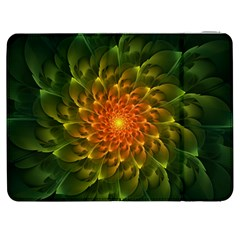 Beautiful Orange Green Desert Cactus Fractalspiral Samsung Galaxy Tab 7  P1000 Flip Case by jayaprime