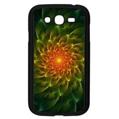 Beautiful Orange Green Desert Cactus Fractalspiral Samsung Galaxy Grand Duos I9082 Case (black) by jayaprime