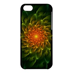 Beautiful Orange Green Desert Cactus Fractalspiral Apple Iphone 5c Hardshell Case by jayaprime