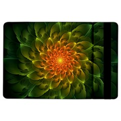 Beautiful Orange Green Desert Cactus Fractalspiral Ipad Air 2 Flip by jayaprime