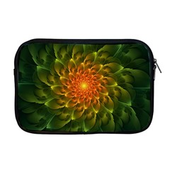 Beautiful Orange Green Desert Cactus Fractalspiral Apple Macbook Pro 17  Zipper Case by jayaprime