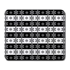 Snowflakes   Christmas Pattern Large Mousepads by Valentinaart