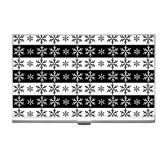 Snowflakes   Christmas Pattern Business Card Holders by Valentinaart