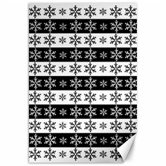 Snowflakes   Christmas Pattern Canvas 20  X 30   by Valentinaart