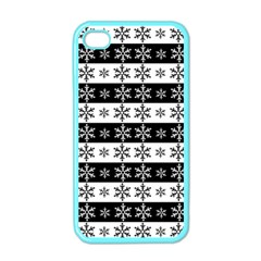 Snowflakes   Christmas Pattern Apple Iphone 4 Case (color)