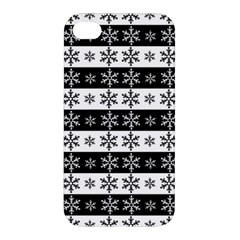 Snowflakes   Christmas Pattern Apple Iphone 4/4s Premium Hardshell Case by Valentinaart