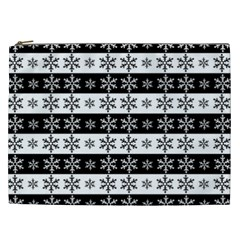 Snowflakes   Christmas Pattern Cosmetic Bag (xxl)  by Valentinaart