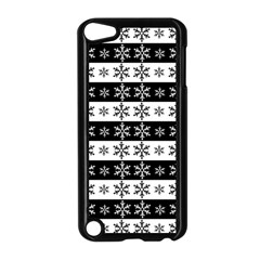 Snowflakes   Christmas Pattern Apple Ipod Touch 5 Case (black) by Valentinaart