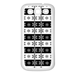 Snowflakes   Christmas Pattern Samsung Galaxy S3 Back Case (white) by Valentinaart