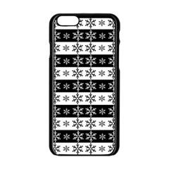 Snowflakes   Christmas Pattern Apple Iphone 6/6s Black Enamel Case
